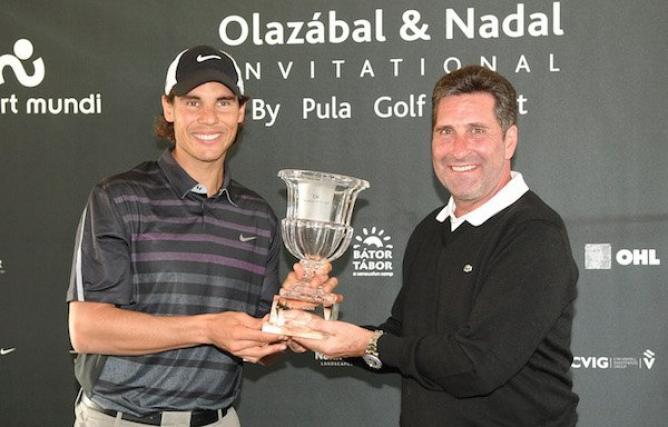 Надал завърши сезона с трофей от голф турнир