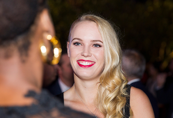 ZHUHAI, CHINA - NOVEMBER 02:  Caroline Wozniacki attends the player party on day 1 of Huajin Securities WTA Elite Trophy Zhuhai at Sheraton Zhuhai Hotel on November 2, 2015 in Zhuhai, China.  (Photo by Zhong Zhi/Getty Images)