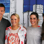 MELBOURNE, AUSTRALIA - JANUARY 14:  (L-R) Tomas Berdych of the Czech Republic, Caroline Wozniacki of Denmark, Andrea Petkovic of Germany and Ana Ivanovic of Serbia pose during the adidas ACE Case Launch at Crown Entertainment Complex on January 14, 2016 in Melbourne, Australia.  (Photo by Graham Denholm/Getty Images for adidas)