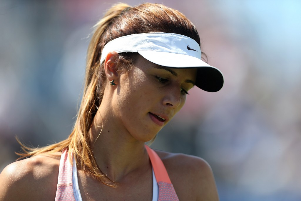 EASTBOURNE, ENGLAND - JUNE 25:  Tsvetana Pironkova of Bulgaria looks on during her quarter final match against Agnieszka Radwanska of Poland on day five of the Aegon International at Devonshire Park on June 25, 2015 in Eastbourne, England.  (Photo by Ben Hoskins/Getty Images for LTA)