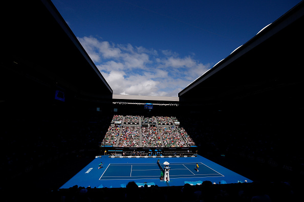 MELBOURNE, AUSTRALIA - JANUARY 24:  General vew of Rod Laver Arena during the fourth round match between Novak Djokovic of Serbia and Gilles Simon of France during day seven of the 2016 Australian Open at Melbourne Park on January 24, 2016 in Melbourne, Australia.  (Photo by Darrian Traynor/Getty Images)