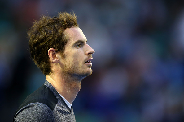 MELBOURNE, AUSTRALIA - JANUARY 25:  Andy Murray of Great Britain looks on in his fourth round match against Bernard Tomic of Australia during day eight of the 2016 Australian Open at Melbourne Park on January 25, 2016 in Melbourne, Australia.  (Photo by Mark Kolbe/Getty Images)