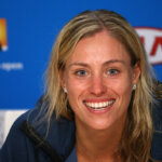 MELBOURNE, AUSTRALIA - JANUARY 31:  Angelique Kerber of Germany talks to the media after winning her Women's Singles Final against Serena Williams of the United States during day 13 of the 2016 Australian Open at Melbourne Park on January 31, 2016 in Melbourne, Australia.  (Photo by Cameron Spencer/Getty Images)