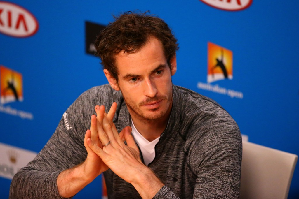 MELBOURNE, AUSTRALIA - JANUARY 31:  Andy Murray of Great Britain during a press conference after losing the Men's Singles Final to Novak Djokovic of Serbia during day 14 of the 2016 Australian Open at Melbourne Park on January 31, 2016 in Melbourne, Australia.  (Photo by Scott Barbour/Getty Images)