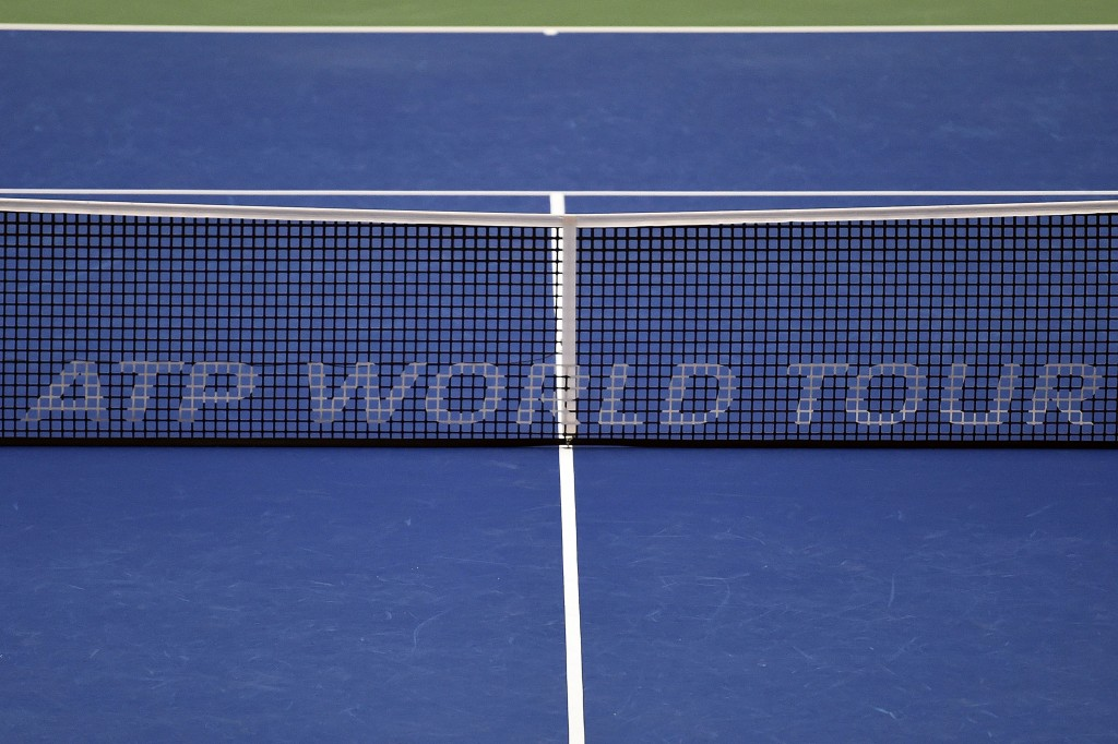 MEMPHIS, TN - FEBRUARY 11: ATP World Tour sign on the net during day 4 of the Memphis Open at the Racquet Club of Memphis on February 11, 2016 in Memphis, Tennessee. (Photo by Stacy Revere/Getty Images)