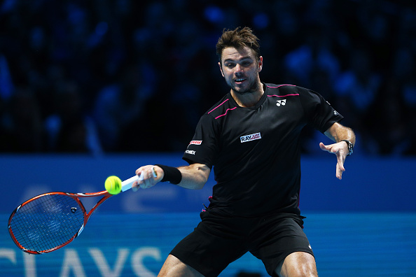 during the men's singles semi final against **** on day seven of the Barclays ATP World Tour Finals at the O2 Arena on November 21, 2015 in London, England.