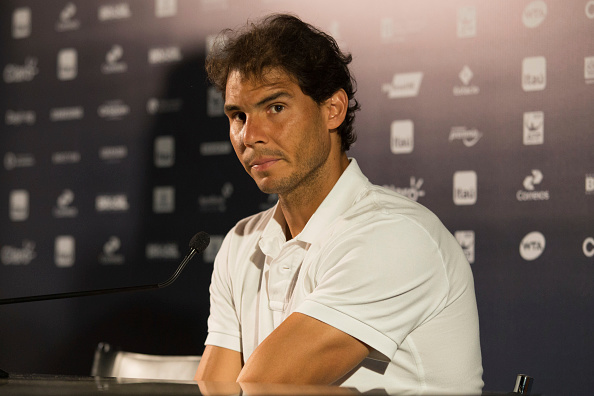 RIO DE JANEIRO, BRAZIL - FEBRUARY 15:  Spanish tennis player Rafael Nadal  attends a press conference at the Jockey Club Brasileiro on February 15, 2016 in Rio de Janeiro, Brazil.(Photo by Gustavo Serebrenick/Brazil Photo Press/LatinContent/Getty Images)