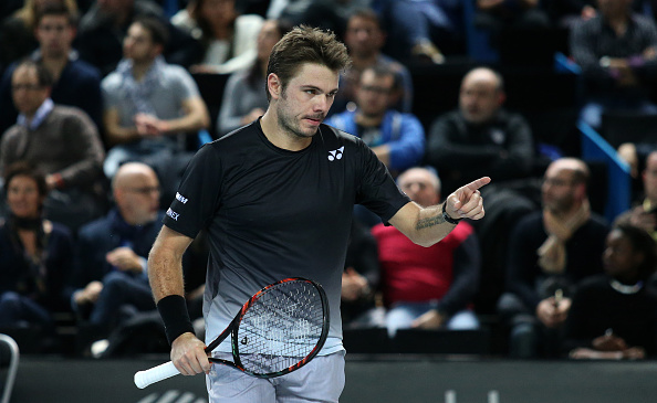 MARSEILLE - FEBRUARY 19: Stan Wawrinka of Switzerland in action during his quarter-final at the Open 13, an ATP Tour 250 tournament at Palais des Sports on February 19, 2016 in Marseille, France. (Photo by Jean Catuffe/Getty Images)