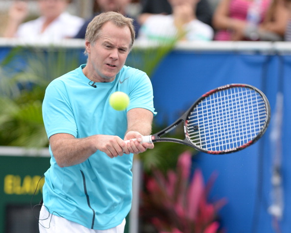 DELRAY BEACH, FL - NOVEMBER 16: Patrick McEnroe participates in 2013 Chris Evert Pro-Celebrity Tennis Classic at Delray Beach Tennis Center on November 16, 2013 in Delray Beach, Florida. (Photo by Larry Marano/Getty Images)