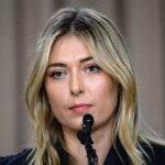 LOS ANGELES, CA - MARCH 7: Tennis player Maria Sharapova addresses the media regarding a failed drug test at the Australian Open at The LA Hotel Downtown on March 7, 2016 in Los Angeles, California. Sharapova, a five-time major champion, is currently the 7th ranked player on the WTA tour. Sharapova, withdrew from this weekÂs BNP Paribas Open at Indian Wells due to injury. (Photo by Kevork Djansezian/Getty Images)