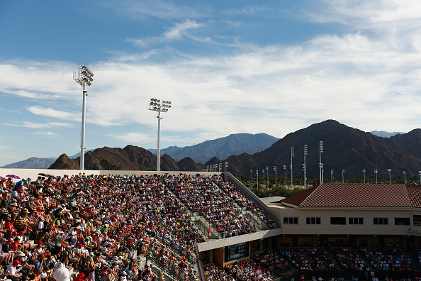 INDIAN WELLS, CA - MARCH 14:  A general view of court 2 during day six of the BNP Paribas Open tennis at the Indian Wells Tennis Garden on March 14, 2015 in Indian Wells, California.  (Photo by Julian Finney/Getty Images)
