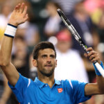 INDIAN WELLS, CA - MARCH 16:  Novak Djokovic of Serbia celebrates defeating Feliciano Lopez of Spain during day ten of the BNP Paribas Open at Indian Wells Tennis Garden on March 16, 2016 in Indian Wells, California.  (Photo by Julian Finney/Getty Images)