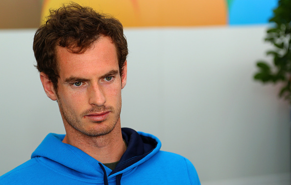 KEY BISCAYNE, FL - MARCH 22:  Andy Murray of Great Brittain talks to members of the media during Day 2 of the Miami Open presented by Itau at Crandon Park Tennis Center on March 22, 2016 in Key Biscayne, Florida.  (Photo by Mike Ehrmann/Getty Images)