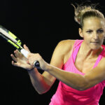 MELBOURNE, AUSTRALIA - JANUARY 18:  Kristyna Pliskova of the Czech Republic plays a backhand in her first round match against Sam Stosur of Australia during day one of the 2016 Australian Open at Melbourne Park on January 18, 2016 in Melbourne, Australia.  (Photo by Quinn Rooney/Getty Images)