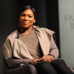 """speaks during The Fast Company Innovation Festival presentation of """"Inside Nike's Playbook with Nike CEO Mark Parker and Tennis Icon Serena Williams"""" on November 11, 2015 in New York City."""