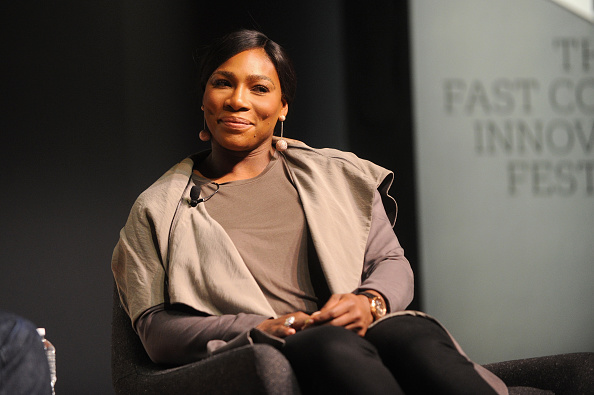 "speaks during The Fast Company Innovation Festival presentation of ""Inside Nike's Playbook with Nike CEO Mark Parker and Tennis Icon Serena Williams"" on November 11, 2015 in New York City."