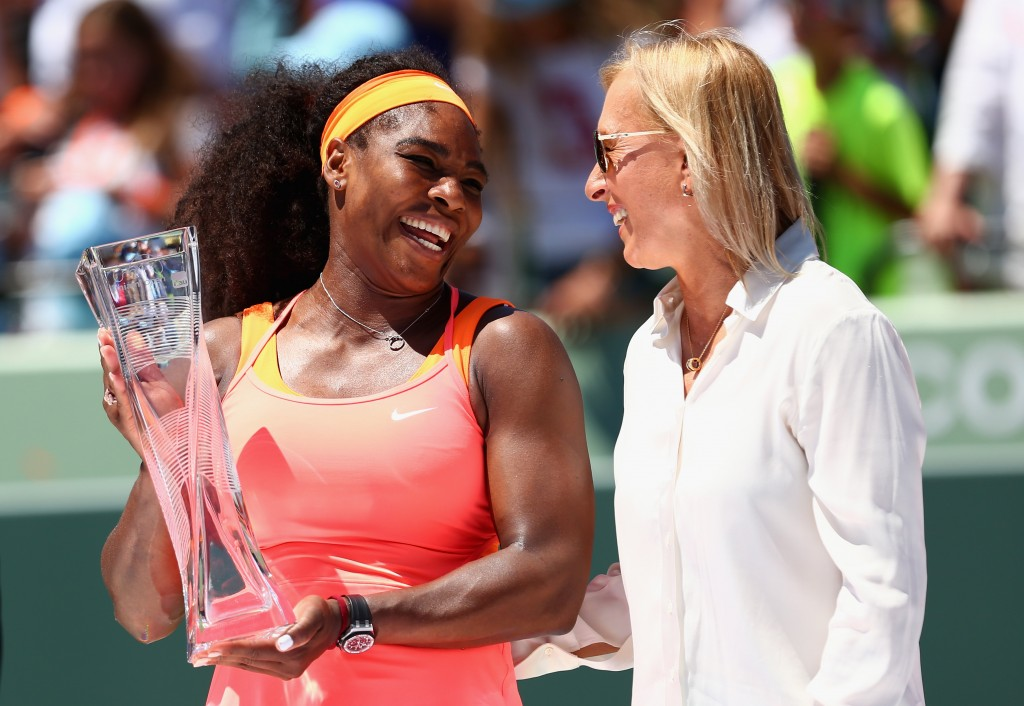 during the Miami Open Presented by Itau at Crandon Park Tennis Center on April 4, 2015 in Key Biscayne, Florida.