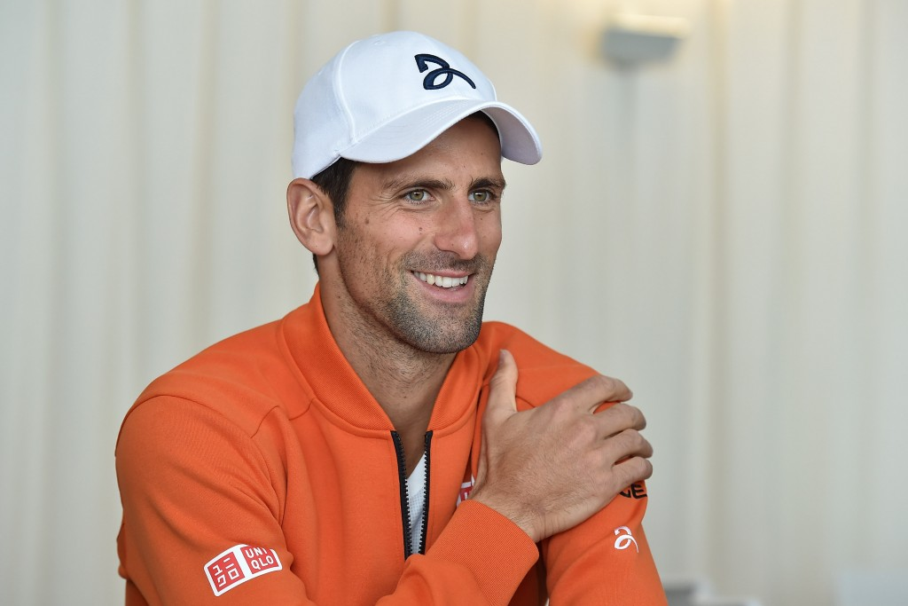 MONTE-CARLO, MONACO - APRIL 10:  Novak Djokovic of Serbia speaks with journalist during media day during day One of the ATP Monte Carlo Masters, at the Monte-Carlo Country Club on April 10, 2016 in Monte-Carlo, Monaco.  (Photo by Valerio Pennicino/Getty Images)