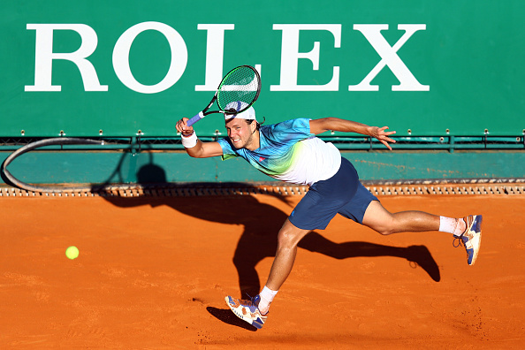 Lucas Pouille of France during the day two of the Monte Carlo Rolex Masters tennis on April 11, 2016 in Monte-Carlo, Monaco. (Photo by Manuel Blondeau/Icon Sport) (Photo by Manuel Blondeau/Icon Sport via Getty Images)