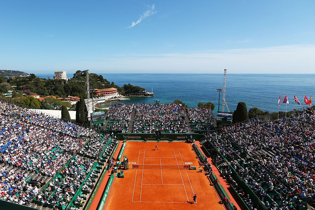 MONTE-CARLO, MONACO - APRIL 12:  A general view of centre court during the second round match between Pierre-Hughes Herbert of France and Andy Murray of Great Britain on day three of the Monte Carlo Rolex Masters at Monte-Carlo Sporting Club on April 12, 2016 in Monte-Carlo, Monaco.  (Photo by Michael Steele/Getty Images)