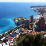 MONTE-CARLO, MONACO - APRIL 20:  (EDITOR's NOTE: This Image was created with a tilt-shift lens) A general view over looking Monte Carlo Tennis Club during day six of the ATP Monte Carlo Masters on April 20, 2012 in Monte-Carlo, Monaco.  (Photo by Julian Finney/Getty Images)