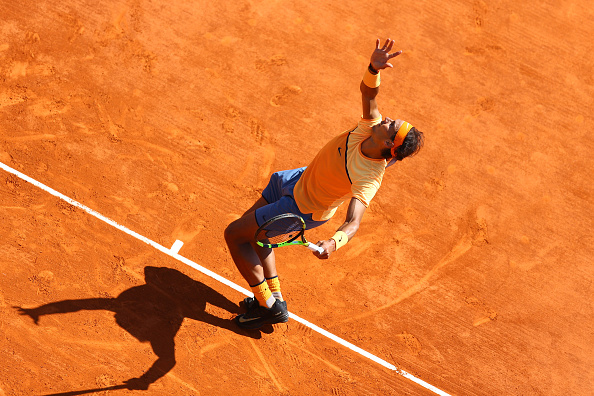Rafael Nadal of Spain during the day four of the Monte Carlo Rolex Masters tennis at Monte Carlo on April 13, 2016 in Monaco, Monaco ( Photo by Manuel Blondeau / Icon Sport ) (Photo by Manuel Blondeau/Icon Sport via Getty Images)