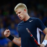 GHENT, BELGIUM - NOVEMBER 27:  Kyle Edmund of Great Britain celebrates during day one of the Davis Cup Final match between Belgium and Great Britain at Flanders Expo on November 27, 2015 in Ghent, Belgium.  (Photo by Jordan Mansfield/Getty Images for LTA)