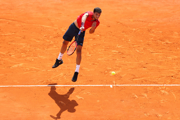 Grigor Dimitrov of Bulgaria during the day three of the Monte Carlo Rolex Masters tennis at Monte Carlo on April 12, 2016 in Monaco, Monaco. (Photo by Manuel Blondeau / Icon Sport) (Photo by Manuel Blondeau/Icon Sport via Getty Images)