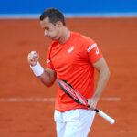 MUNICH, GERMANY - APRIL 29:  Philipp Kohlschreiber of Germany celebrates during his quater final match against Juan Martin Del Porto of Argentina of the BMW Open at Iphitos tennis club on April 29, 2016 in Munich, Germany.  (Photo by Alexander Hassenstein/Getty Images For BMW)