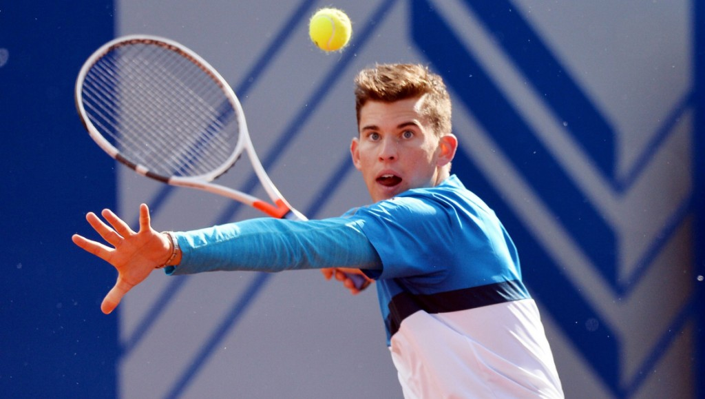 MUNICH,GERMANY,27.APR.16 - TENNIS - ATP World Tour, BMW Open. Image shows Dominic Thiem (AUT). Photo: GEPA pictures/ Witters/ Sebastian Widmann - ATTENTION - COPYRIGHT FOR AUSTRIAN CLIENTS ONLY