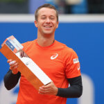 MUNICH, GERMANY - MAY 01:  Philipp Kohlschreiber of Germany celebrates with the winners trophy for the BMW Open by FWU 2016 after winning his finale match against Dominic Thiem of Austria of the BMW Open at Iphitos tennis club on May 1, 2016 in Munich, Germany.  (Photo by Alexander Hassenstein/Getty Images For BMW)