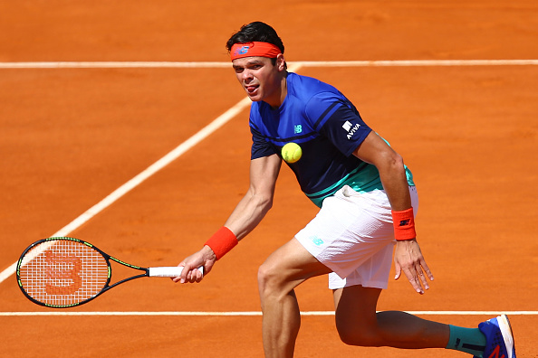 Milos Raonic of Canada during the day six of the Monte Carlo Rolex Masters tennis at Monte Carlo on April 15, 2016 in Monaco, Monaco. (Photo by Manuel Blondeau / Icon Sport) (Photo by Manuel Blondeau/Icon Sport via Getty Images)