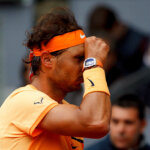 MADRID, SPAIN - MAY 7: Rafael Nadal of Spain laments a missing point during day eight of the Mutua Madrid Open tennis tournament at the Caja Magica in Madrid on May 7, 2016.(Photo by Guillermo Martinez/Corbis via Getty Images)