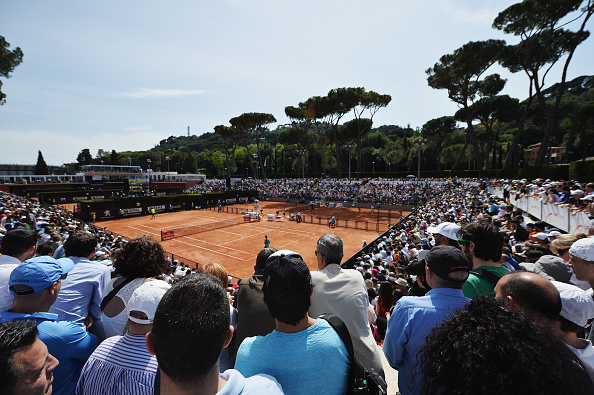 ROME, ITALY - MAY 09:  A general view of Court 1 and 2 on Day Two of The Internazionali BNL d'Italia 2016 on May 09, 2016 in Rome, Italy.  (Photo by Dennis Grombkowski/Getty Images)