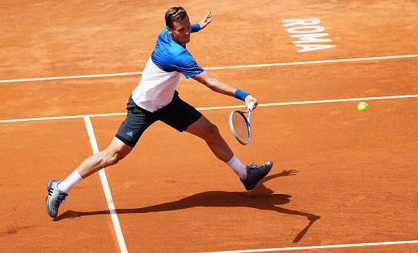ROME, ITALY - MAY 10:  Thomas Berdych of the Czech Republic in action against Albert Ramos-Vinolas of Spain during day three of The Internazionali BNL d'Italia 2016 on May 10, 2016 in Rome, Italy.  (Photo by Matthew Lewis/Getty Images)