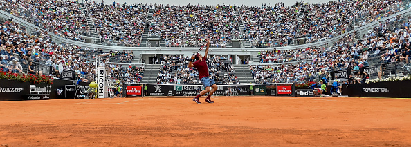 Roger Federer of Switzerland in action during his match against Alexander Zverev of Germany on day four of the The Internazionali BNL d'Italia 2016 on May 11, 2016 in Rome, Italy. Photo by Giuseppe Maffia/DPI/ NurPhoto via Getty Images)