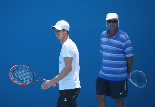 MELBOURNE, AUSTRALIA - JANUARY 17:  Coach of Andy Murray, Ivan Lendl watches Murray in a practice session during day five of the 2014 Australian Open at Melbourne Park on January 17, 2014 in Melbourne, Australia.  (Photo by Chris Hyde/Getty Images)
