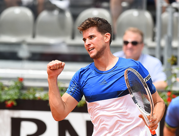 Dominic Thiem in action during his match against Joao Sousa - Internazionali BNL d'Italia 2016 on May 11, 2016 in Rome, Italy. (Photo by Silvia Lore/NurPhoto via Getty Images)