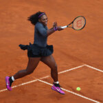 ROME, ITALY - MAY 14:  Serena Williams of the United States in action against Irina-Camelia Begu of Romania during day seven of The Internazionali BNL d'Italia 2016 on May 14, 2016 in Rome, Italy.  (Photo by Matthew Lewis/Getty Images)