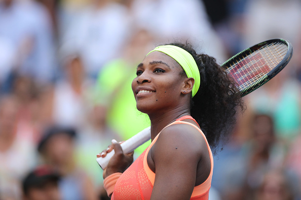 Serena Williams, USA, after her victory against Madison Keys, USA, during the US Open Tennis Tournament, Flushing, New York, USA. 6th September 2015. Photo Tim Clayton (Photo by Tim Clayton/Corbis via Getty Images)