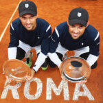 ROME, ITALY - MAY 15:  Bob Bryan and Mike Bryan of the United States pictured after winning the Final  against Vasek Pospisil of Canada and Jack Sock of the United States during the Mens Doubles Final  during day eight of The Internazionali BNL d'Italia 2016 on May 15, 2016 in Rome, Italy.  (Photo by Matthew Lewis/Getty Images)