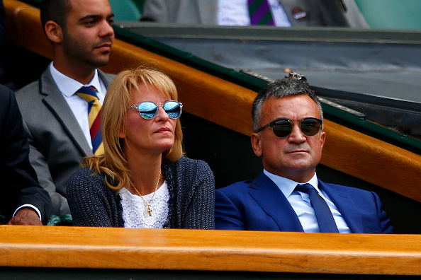 LONDON, ENGLAND - JUNE 29:  Srdjan Djokovic and and Dijana Djokovic, parents of defending champion Novak Djokovic of Serbia look on as he plays Philipp Kohlschreiber of Germany in their Gentlemen's Singles first round match during day one of the Wimbledon Lawn Tennis Championships at the All England Lawn Tennis and Croquet Club on June 29, 2015 in London, England.  (Photo by Julian Finney/Getty Images)