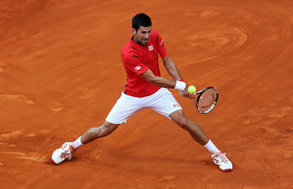 ROME, ITALY - MAY 15:  Novak Djokovic of Serbia in action against Andy Murray of Great Britain during the Mens Singles Final during day eight of The Internazionali BNL d'Italia 2016 on May 15, 2016 in Rome, Italy.  (Photo by Matthew Lewis/Getty Images)