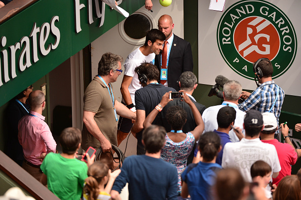 Novak Djokovic at the Kids' Day during the French Open 2016 on May 21, 2016 in Paris, France. (Photo by Dave Winter/Icon Sport) (Photo by Dave Winter/Icon Sport via Getty Images)
