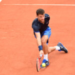 Grigor Dimitrov during the Men's Singles first round on day two of the French Open 2016 at Roland Garros on May 23, 2016 in Paris, France. (Photo by Dave Winter/Icon Sport) (Photo by Dave Winter/Icon Sport via Getty Images)