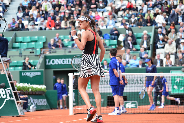 Ana Ivanovic during the Women's Singles first round on day three of the French Open 2016 at Roland Garros on May 24, 2016 in Paris, France. (Photo by Dave Winter/Icon Sport) (Photo by Dave Winter/Icon Sport via Getty Images)