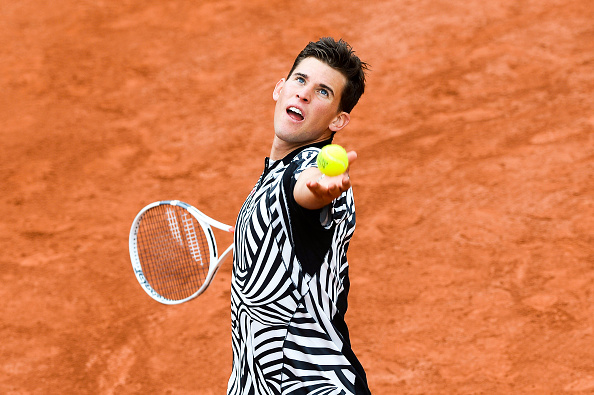 Dominic Thiem during the Men's Singles first round on day three of the French Open 2016 at Roland Garros on May 24, 2016 in Paris, France. (Photo by Nolwenn Le Gouic/Icon Sport) (Photo by Nolwenn Le Gouic/Icon Sport via Getty Images)