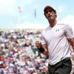PARIS, FRANCE - MAY 27:  Andy Murray of Great Britain celebrates during the Men's Singles third round match against Ivo Karlovic of Croatia on day six of the 2016 French Open at Roland Garros on May 27, 2016 in Paris, France.  (Photo by Dennis Grombkowski/Getty Images)