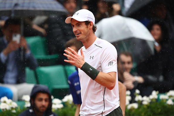 during the **** Singles fourth round match against ***** on day eight of the 2016 French Open at Roland Garros on May 29, 2016 in Paris, France.