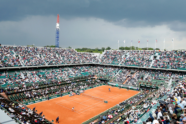 <> at Roland Garros on May 28, 2016 in Paris, France.